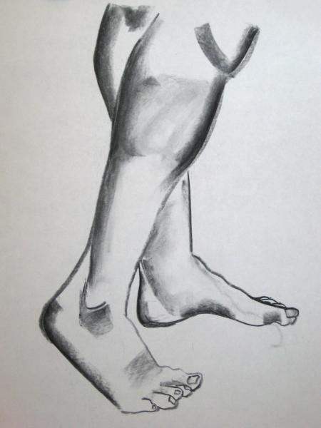 """18""""x24"""". charcoal on paper. $75"""