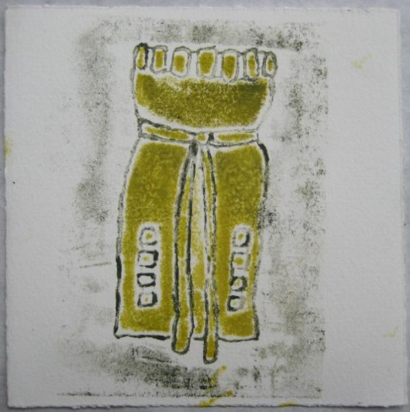 "6""x6"". collagraph on paper. $40"