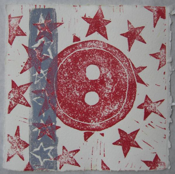 """6""""x6"""". collagraph and lino prints on paper. $40"""