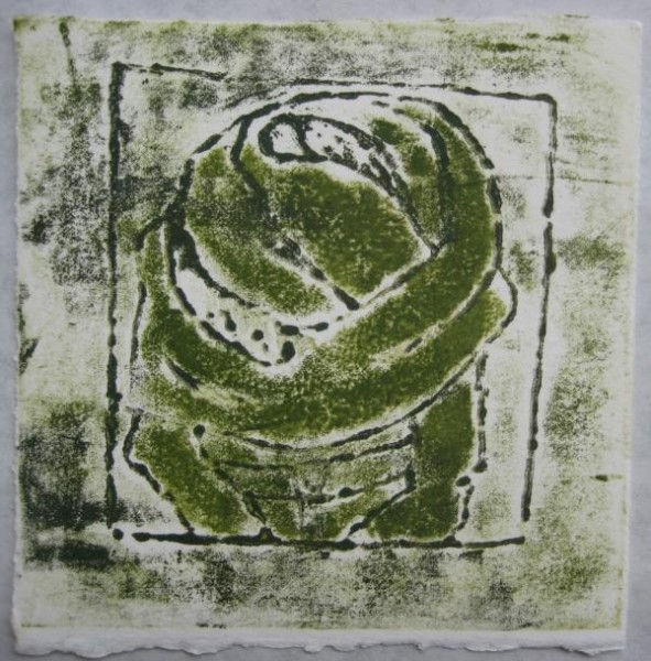 "6""x6"". collagraph print on paper. $40"