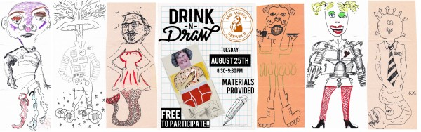 drink n draw banner